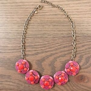 J.Crew pink and orange stone necklace